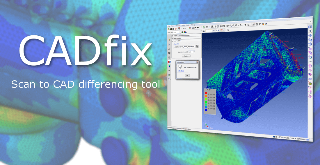 Scan to CAD comparison with CADfix