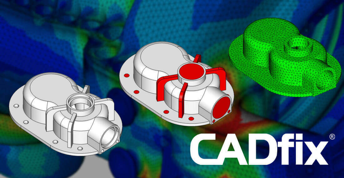 Defeaturing CAD model with CADfix