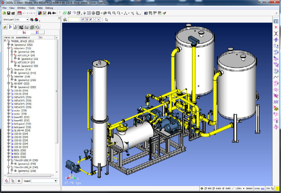 DXF/DWG assembly import and export in CADfix 11 SP1