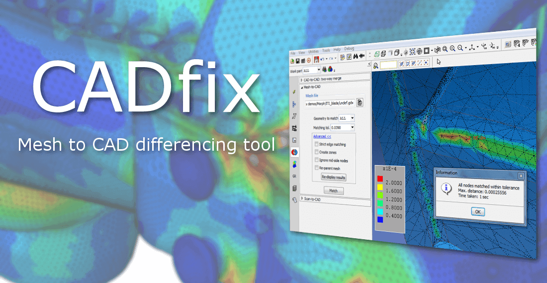 Mesh to CAD comparison with CADfix
