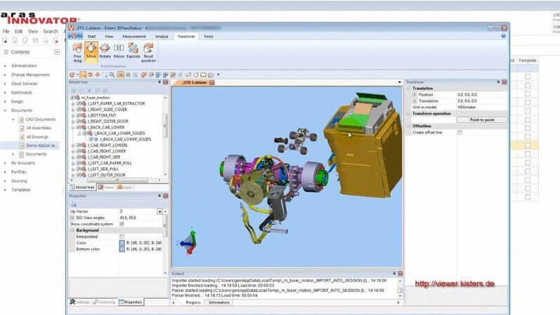 Aras Innovator CADViewer Integration with 3DViewStation