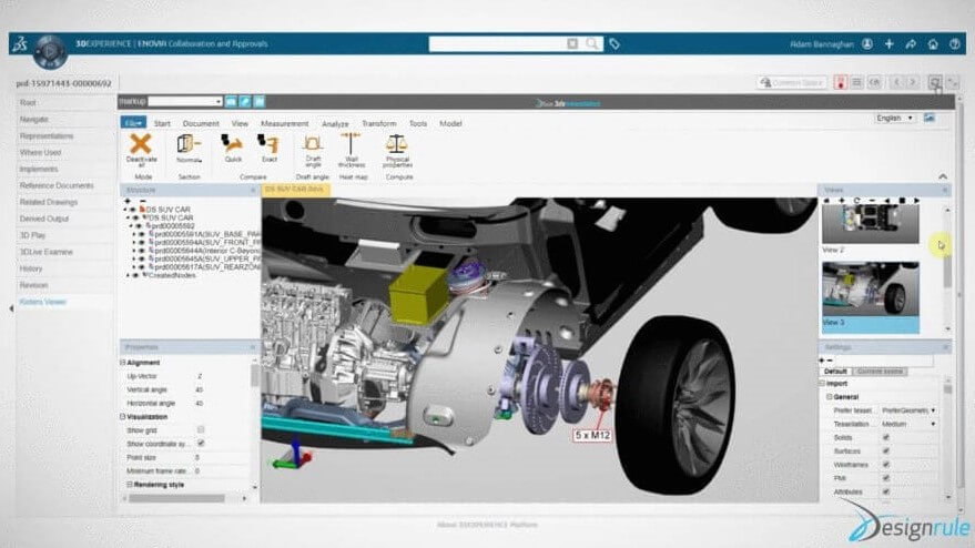 3DExperience CADViewer Integration with 3DViewStation WebViewer