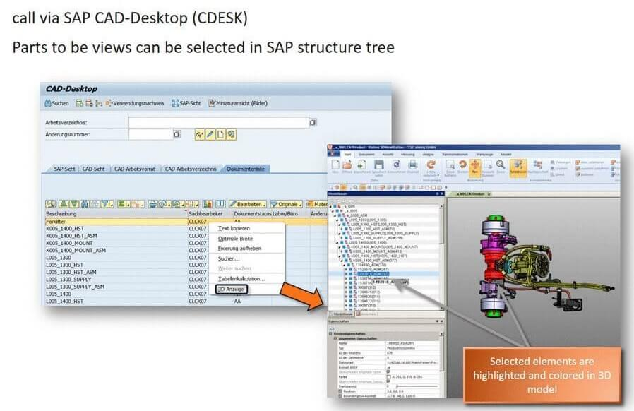 SAP DMS (CV04N) CADViewer Integration : 3DViewStation Desktop