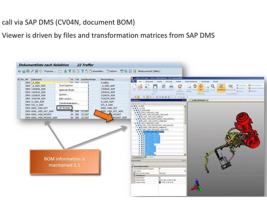 SAP CAD-Desktop CADViewer Integration with 3DViewStation