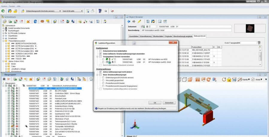 SAP ECTR CADViewer Integration : 3DViewStation Table Load Option
